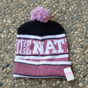 VS Pink Pink Nation Beanie NWT